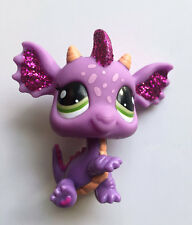 Littlest Pet Shop #2660 Purple Pink Sparkle Glitter Dragon LPS Loose  Figure
