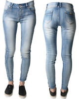 New Ladies Skinny Womens Jean Slim Fit Denim Cotton Blue Stretchy Jeans XS-XL