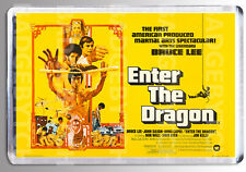 ENTER THE DRAGON (UK yellow) movie poster LARGE FRIDGE MAGNET- BRUCE LEE!