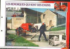 Fire engine Motopompe Remorques Ventilateurs Hydr'am  FICHE Pompier FIREFIGHTER