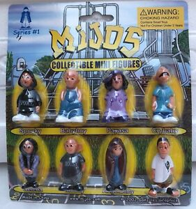 Hey Homies - Complete set of 8 Mijos series # 1 Figures - Blister Card package