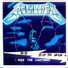Metallica Ride The Lightning Full Color Sticker James Hetfield Very Cool