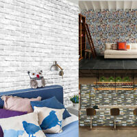 3D Brick Stone Rustic Effect Self-adhesive Wall Sticker Home Bedroom Decor P&P