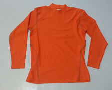 Layer 8 Youth Size XL ( men size M ) Orange Compression Base Layer Fleece Mock