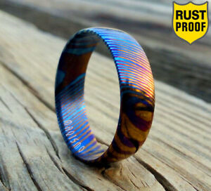 Timascus Handmade Affordable Men engagement Ring High Quality Wedding Band