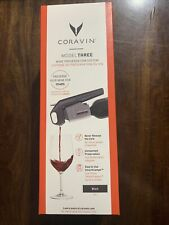 Coravin Model Three Wine Preservation System Black new (open Box)