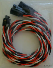 (5) Futaba Servo Extension Leads with 60CM Heavy Duty Twisted 20awg Wire