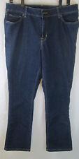 L.L. Bean Women's Sz 14 Favorite Fit Blue Jeans Denim Pants Boot Cut
