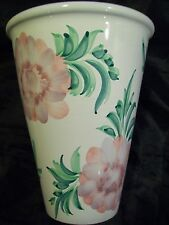 BEAUTIFUL VASE HAND PAINTED FROM PORTUGAL 7 1/2 IN. TALL 6 IN. WIDE VERY NICE!!!