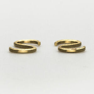 Futagami Pair of S-shaped Brass Hooks for Hanging Clothes & Kitchen Accessories