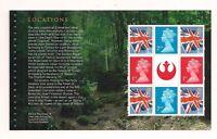 GB 2015 Star Wars~Prestige Stamp Booklet Pane~4~ex DY15~Unmounted Mint