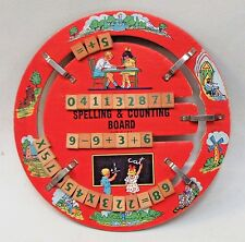 1930's SPELLING & COUNTING BOARD full color graphics