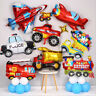 Engineering Truck Police Car Train Foil Balloons Children Birthday Party Decor