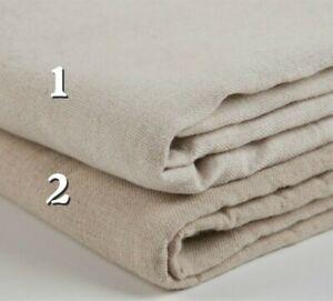 1M Basic Linen Cotton Plain Natural Fabric Material Craft DIY Curtain Tablecloth