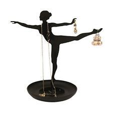 Kikkerland Ballerina Jewellery Stand Necklace Hanger 18cm Earring Holder Display