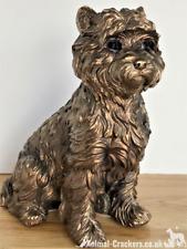 More details for westie west highland terrier bronzed ornament figurine leonardo, gift boxed