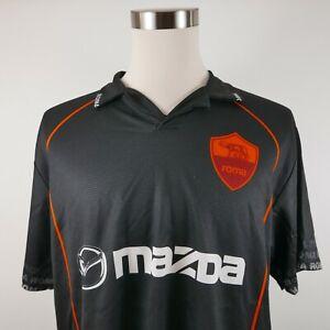 Roma Mazda Totti Mens Polyester Short Sleeve Black Polo Soccer Futbol Jersey XL