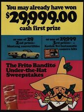 1969 FRITOS Corn Chips - FRITO BANDITO Under-The-Hat Sweepstakes VINTAGE AD
