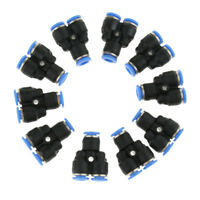 10 Pcs Push To Connect Fitting, Pneumatic Y Connector Tee Air Hose Tube 6mm