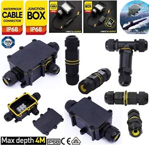 2/3/4Way Waterproof Electrical Junction Box Cable Connector Wire IP68 Outdoor UK