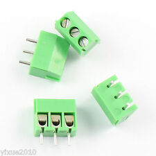 50Pcs 3.5mm Pitch 3 pin 3 way Straight Pin PCB Screw Terminal Block Connector