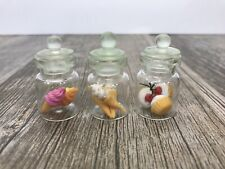 Lot Mini Polymer Clay Dollhouse Food Jars  Miniature Ice cream Cones Cupcakes