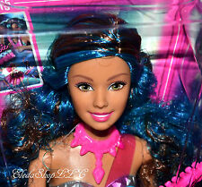 ROCK N ROYALS BARBIE DOLL BLUE HAIR TERESA WITH GUITAR