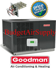 """3 Ton 14 seer Goodman A/C/Electric Heat""""All in One Package""""Unit GPC1436H41+Heat"""