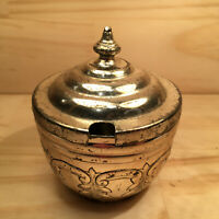 "REGAL GARLAND ""Silver"" Vintage Silverplated Sugar Bowl Metal Dish with Lid"