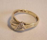 Diamantring 3 Diamanten  elegant, Echtgold, Ring, Goldring   333=8kt ,Gr 56