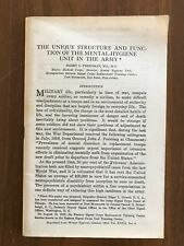 Structure & Function of Mental Hygiene Unit in the Army Vintage WWII 1943