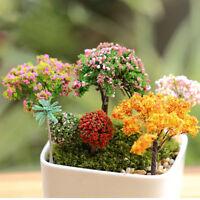 6X Miniature Tree DIY Ornament Decor Craft f/ Fairy Garden Dollhouse PlantRACD