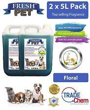 2 x 5L FRESH PET URINE SMELL ODOUR REMOVER  - FLORAL Fragrance TRADE Chem