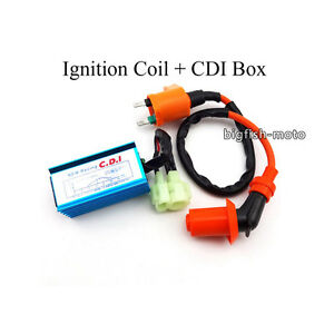 Ignition Coil + Blue AC CDI Box For Tomberlin Crossfire 150cc 150R Cart Go Kart
