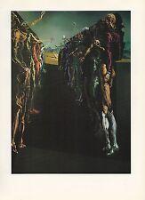 "1976 Vintage SALVADOR DALI ""PALLADIO'S THALIA CORRIDOR"" COLOR Print Lithograph"