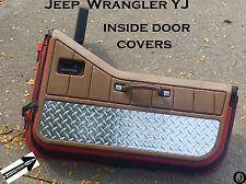 Jeep YJ Wrangler Aluminum Diamond Plate Interior Half Door Covers 1987-95