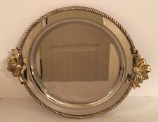 Oneida Heavy 18-8 Stainless Oval Serving Tray with Ribbon and Bow Handles