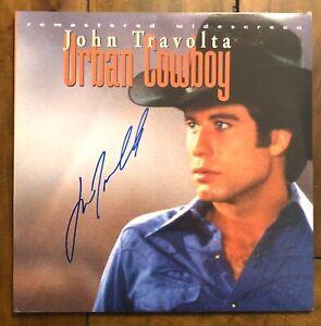 John Travolta Hand Signed Urban Cowboy Laserdisc Remastered Widescreen Rare WOW