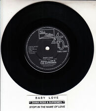 "DIANA ROSS  Baby Love 45 rpm 7"" vinyl record + juke box title strip"