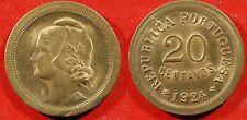 1924 Portugal 20 Centavos - Solid  AU   stk#wb57
