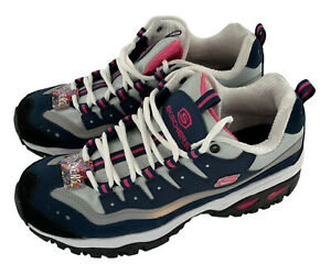 Skechers Womens Energy Wave Linxe Wide Fit Navy Pink Shoe Size 10 SN13400W New