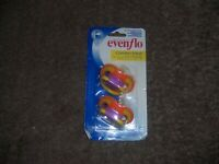 New Evenflo comfort Mesh pacifiers new
