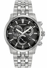 Citizen Men's BL8140-55E Silver Tone Calibre 8700 Perpetual Calendar Black Watch