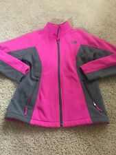 THE NORTH FACE girls gray pink fleece FULL ZIPPER  jacket Large 14/16
