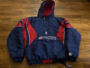 Vtg Rare NBA Houston Rockets Starter Puffer Pullover Jacket Youth XL Men Medium