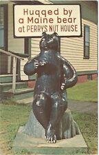 1960's postcard - Perry's Nut House Famous Bear, Belfast, Maine