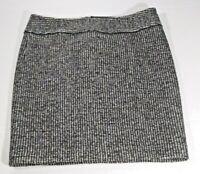 Ann Taylor Women's Pencil Skirt Size 10 Black/White Houndstooth Weave Zipper