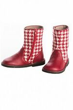 PePe Boutique Toddler Girls 22EU 6/6.5US Red And White NEW Boots Italy Leather