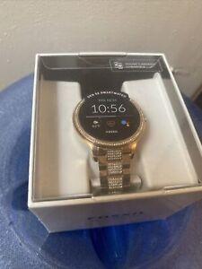 FOSSIL GEN 5E Stainless Steel Gold Rose Swarovski GEN 5E Womens Smartwatch