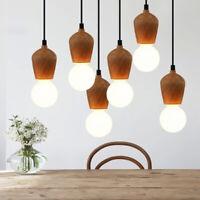 Modern Deckenlampe Hängeleuchte Holzleuchte E27 Kronleuchter Pendelleuchte Licht